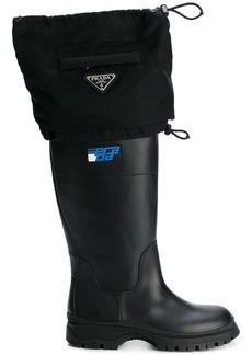 Prada drawstring rain boots