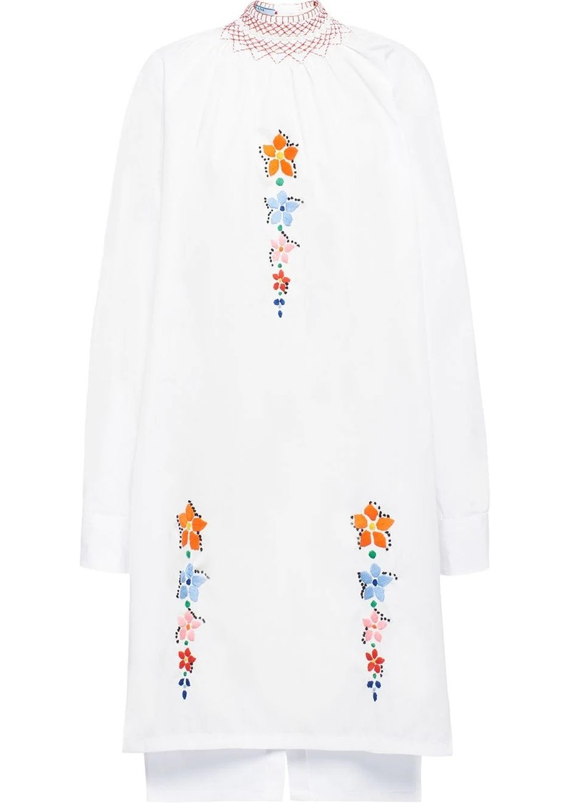 Prada embroidered flower dress