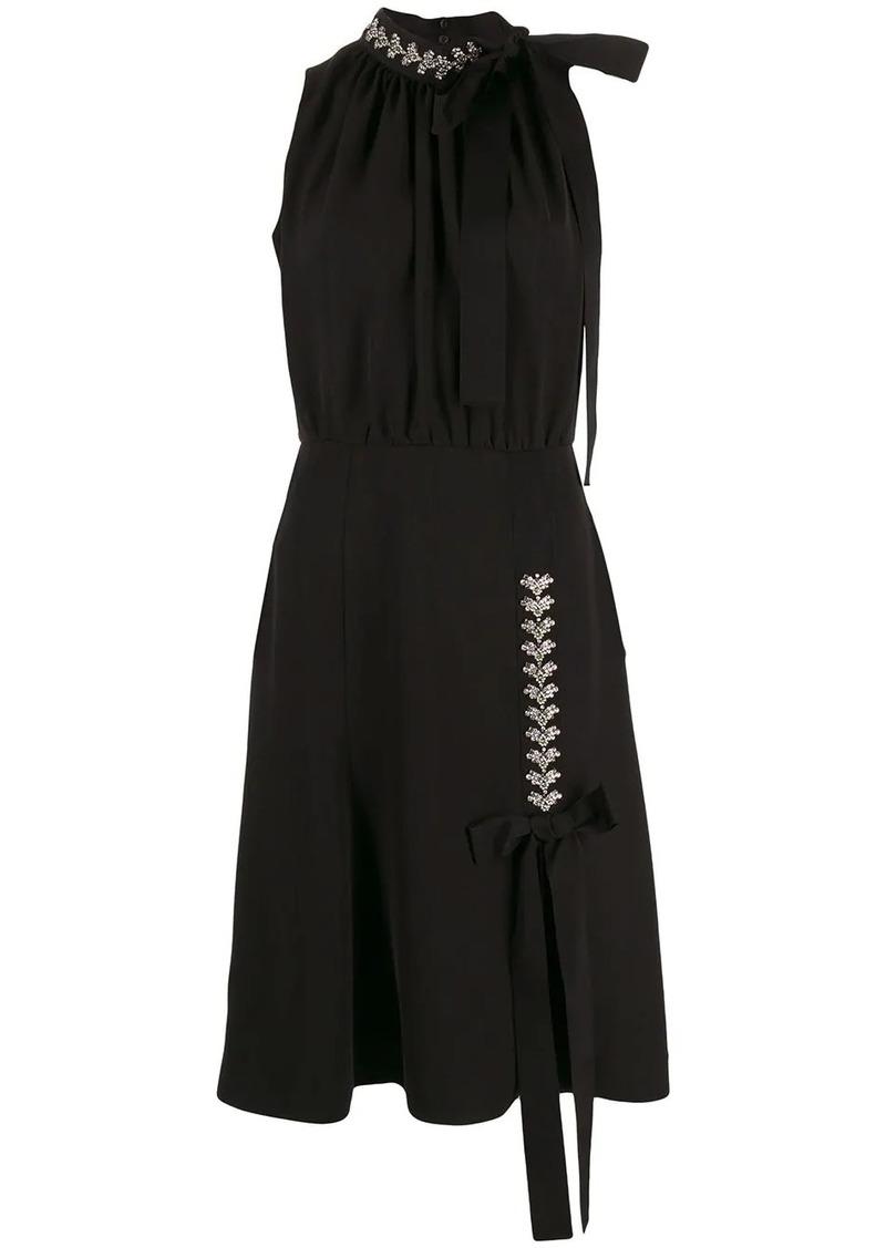 Prada embellished detail midi dress
