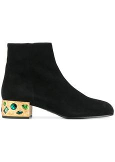 Prada embellished heel ankle boots