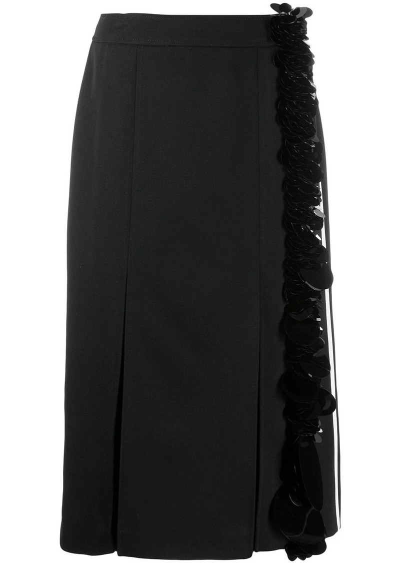 Prada embellished straight skirt