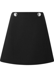 Prada Embellished Wool Mini Skirt