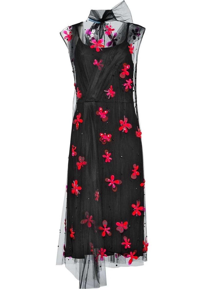 Prada embroidered tulle dress
