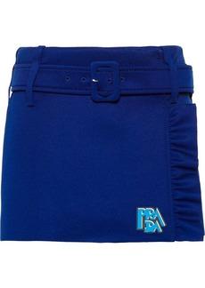 Prada envelope ruffled mini skirt