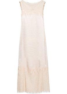 Prada faded floral lace shift dress