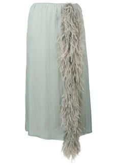 Prada feather tassel skirt