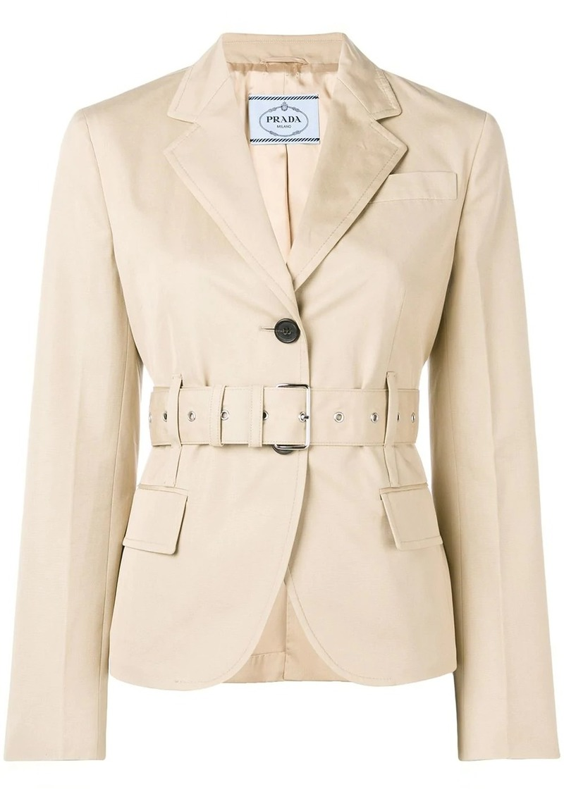 Prada fitted belted jacket