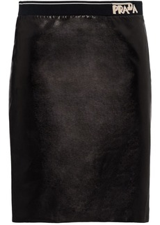Prada Fitted leather skirt