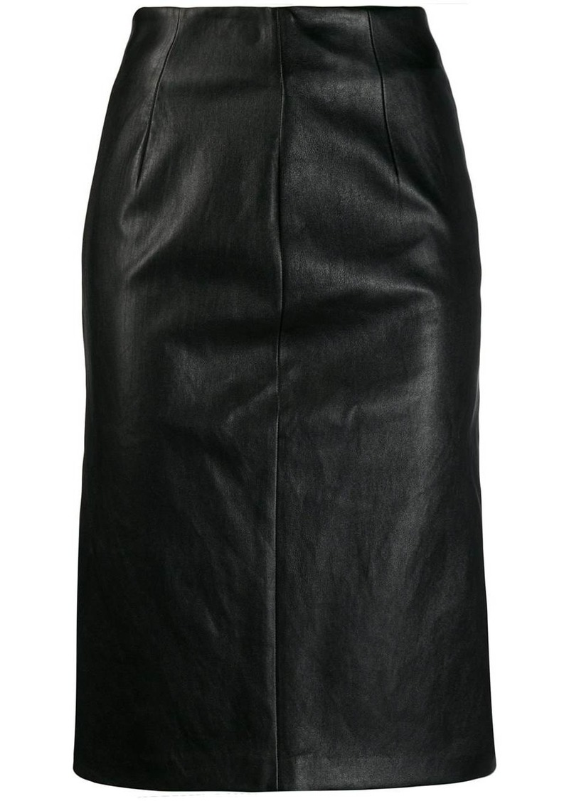 Prada fitted midi skirt
