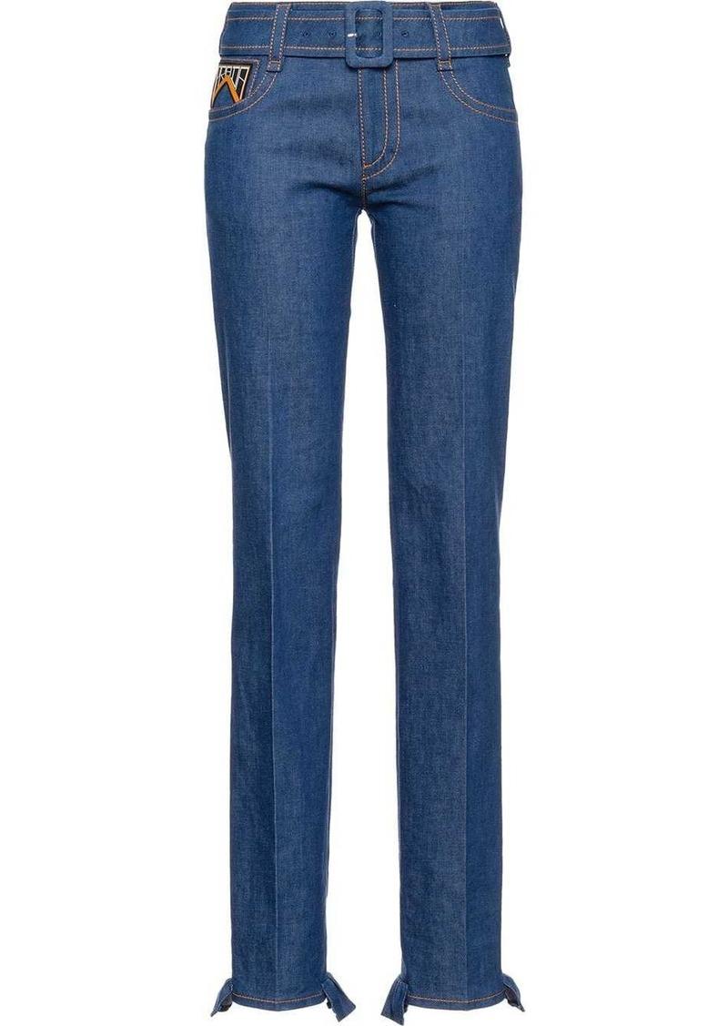 Prada Five-pocket denim jeans with belt