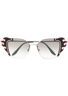 Prada flame shaped sunglasses