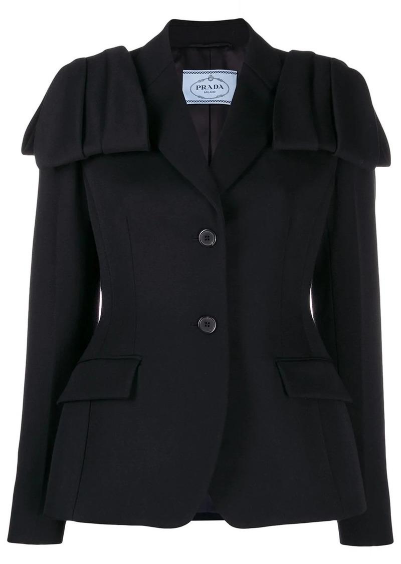 Prada flap detail blazer jacket