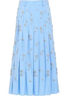 Prada floral embellished skirt