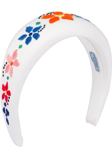 Prada floral-embroidered headband