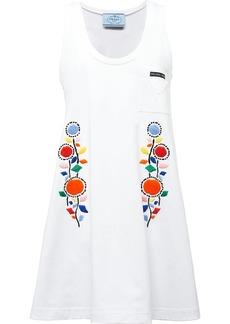 Prada floral-embroidered mid-length dress