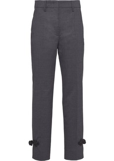 Prada floral embroidery tailored trousers