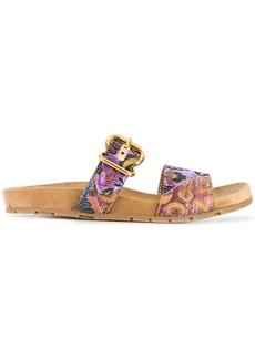 Prada floral jacquard sandals