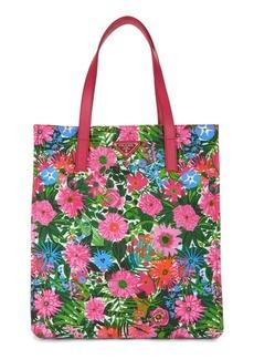 Prada Floral Nylon Tote Bag
