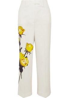 Prada Floral-print Cotton-poplin Straight-leg Pants