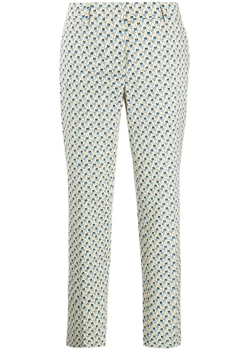 Prada floral print cropped trousers