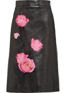 Prada floral-print high-waisted skirt
