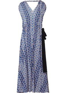Prada floral-print midi dress