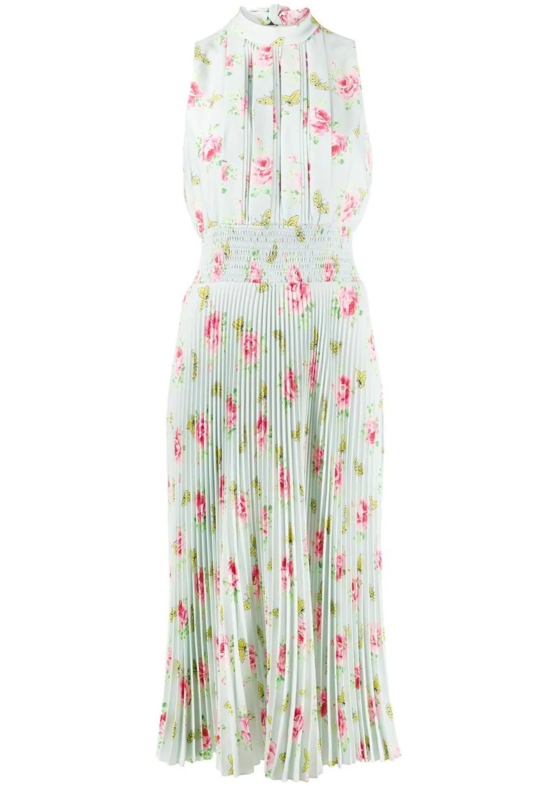 Prada floral print pleated dress
