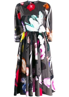Prada floral print skater dress