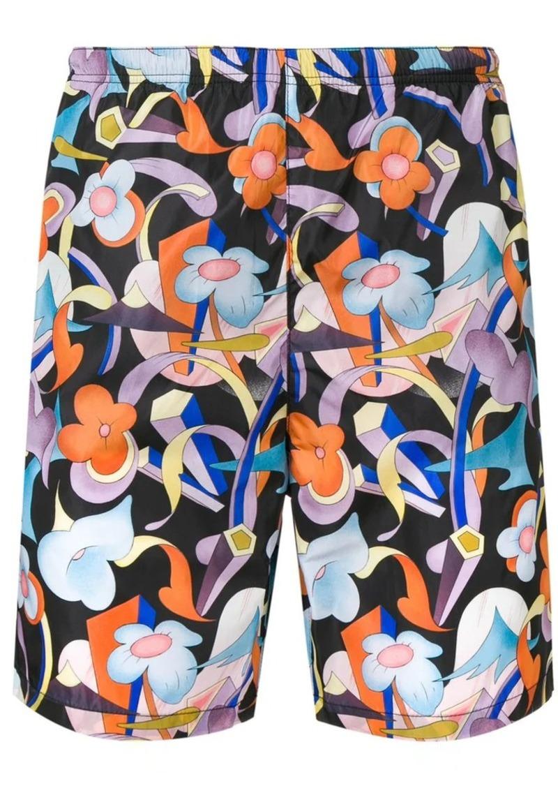 da0e37c8cdfd5 Prada floral print swim shorts   Swimwear
