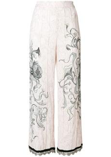 Prada floral sketch trousers