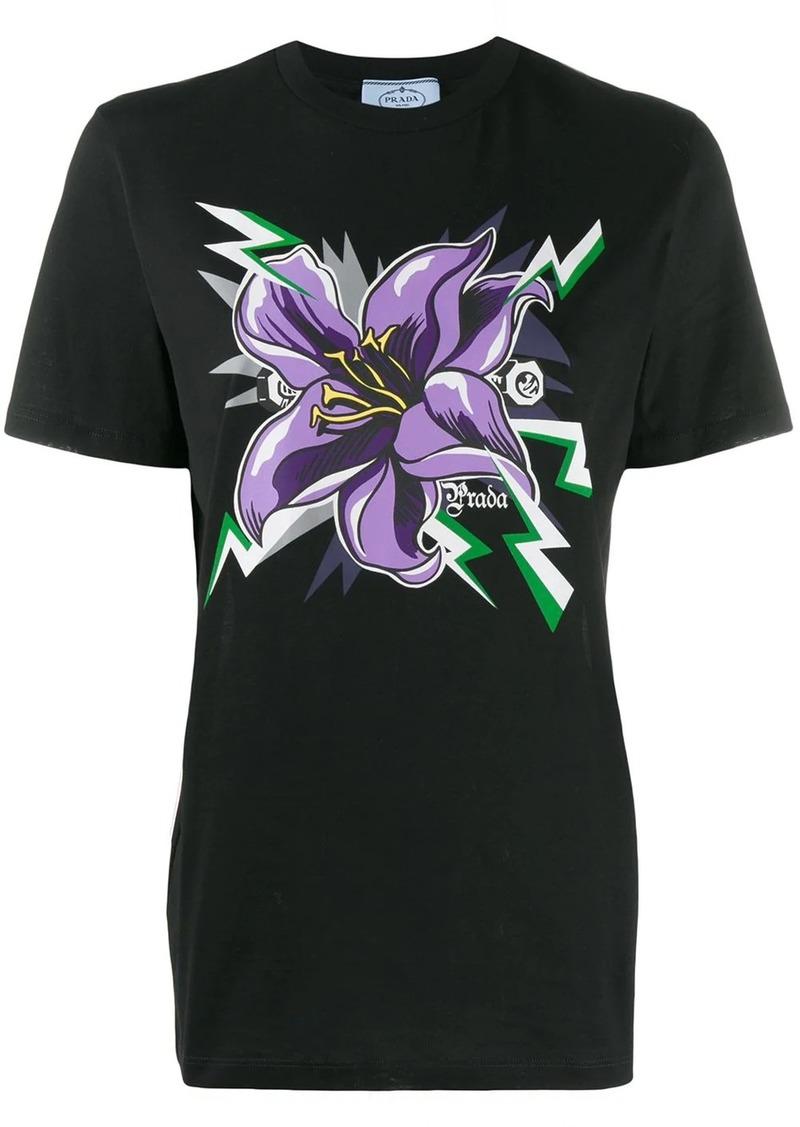 Prada flower print T-shirt