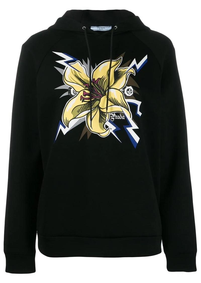 Prada Frankenstein lily print hoodie
