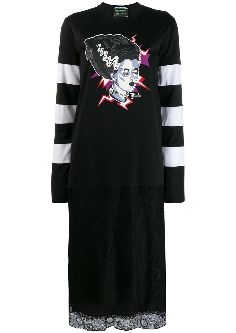 Prada Frankenstein print dress