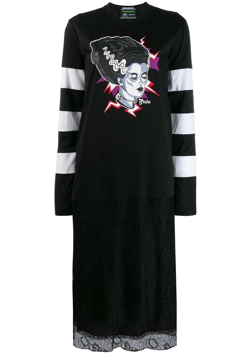 Prada Frankenstein print dress