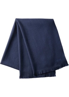 Prada fringed twill scarf