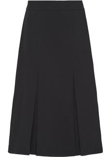 Prada front pleat midi skirt