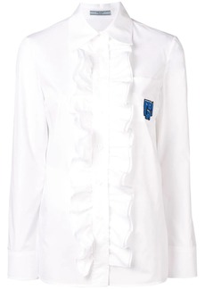 Prada front ruffle shirt