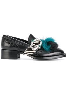 Prada fur tassel loafers