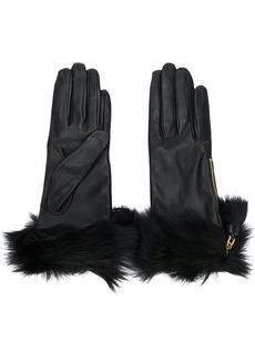 Prada fur trimmed gloves