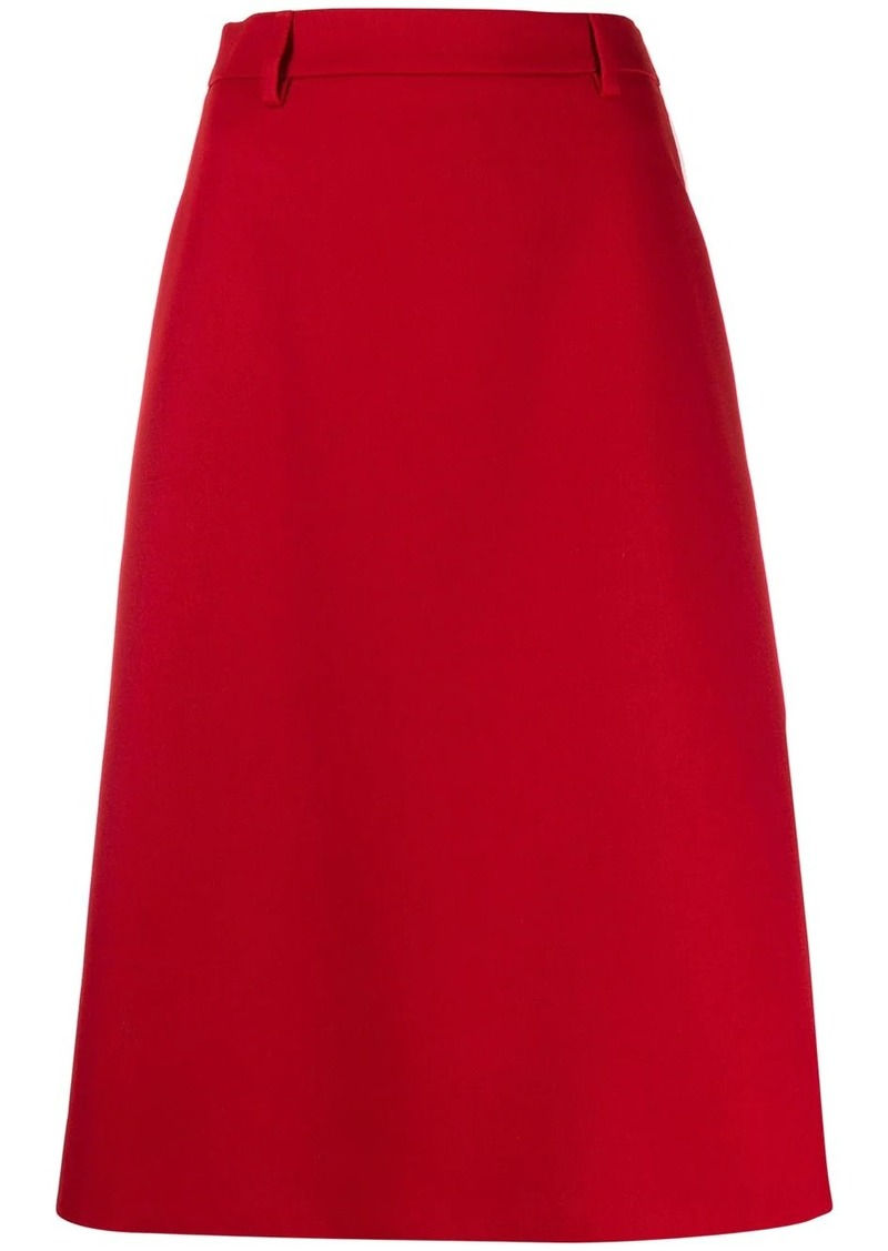 Prada gabardine A-line skirt