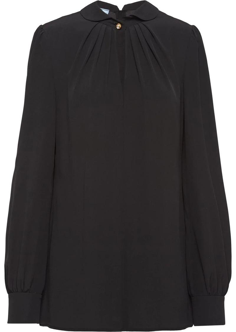 Prada gathered details blouse
