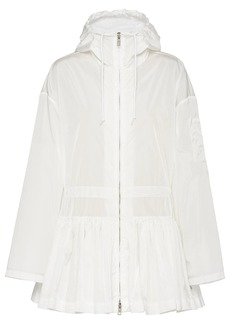Prada gathered waist pleated jacket