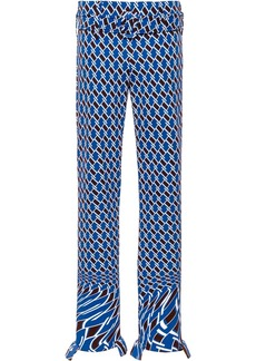 Prada geometric print straight trousers