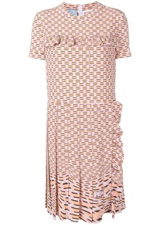 Prada geometric printed dress