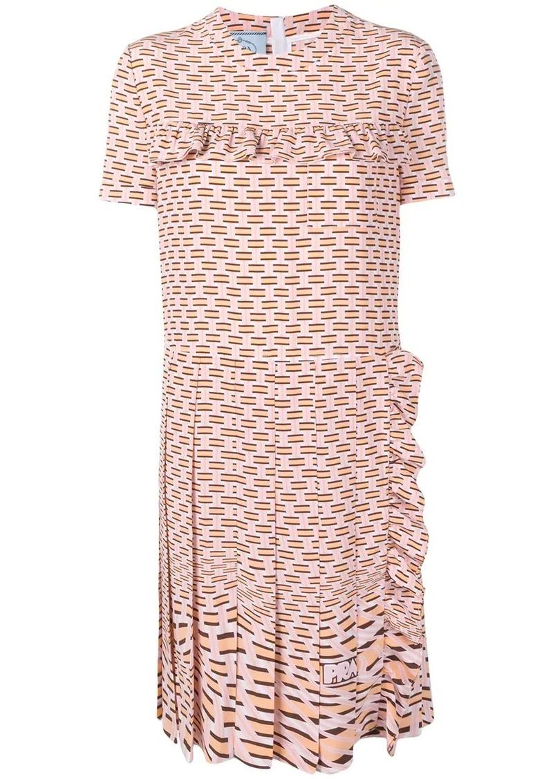 Prada geometric printed dress