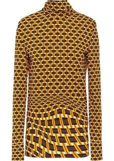 Prada geometric printed turtleneck blouse