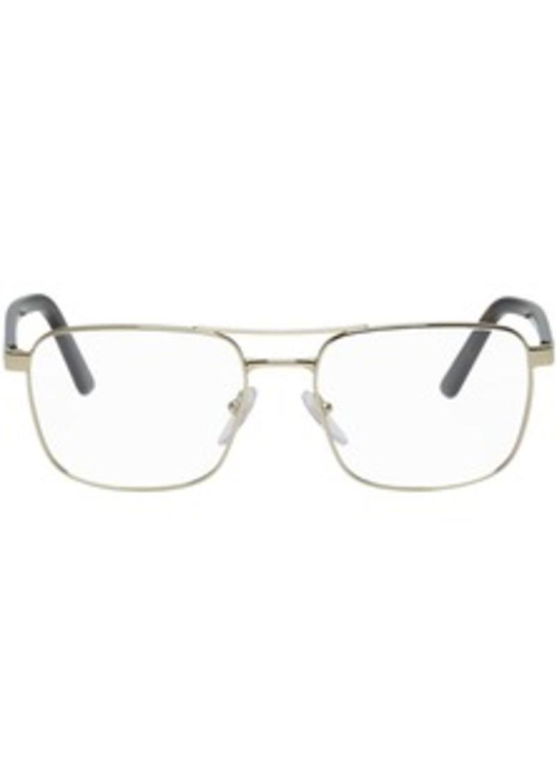 Prada Gold & Tortoiseshell Heritage Glasses