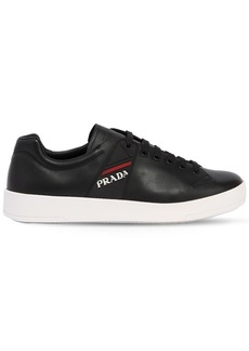 Prada Graphic Leather Sneakers