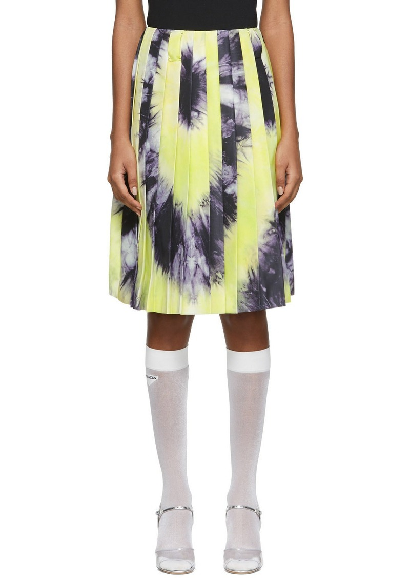 Prada Green & Purple Tie-Dye Skirt