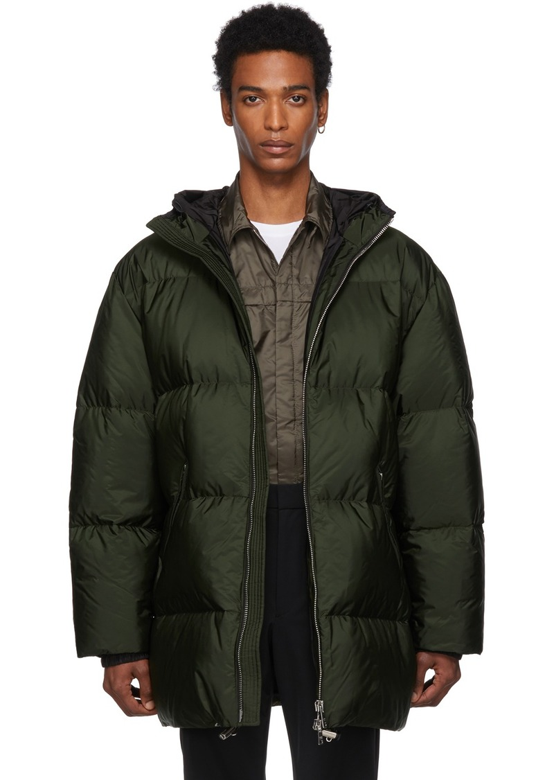 Prada Green Down Long Jacket